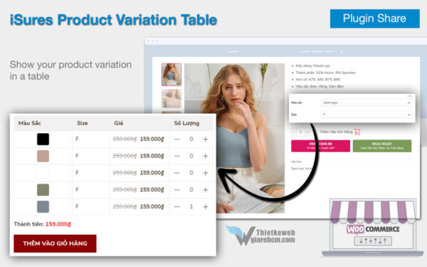 Plugin iSures Product Variation Table