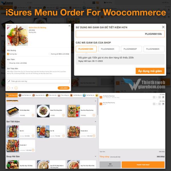 Plugin iSures Menu Order For Woocommerce